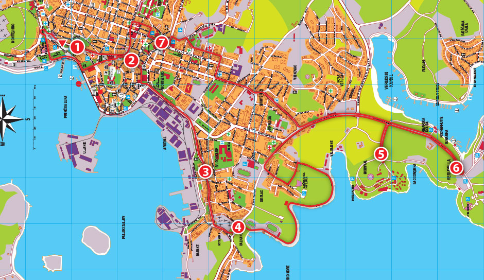 PULA CITY TOUR mapa